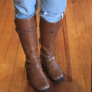 The North Face English Tan Leather Tall Boots